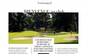 """The Golf des Yvelines in the spotlight by Madame Figaro: """"A back-to-school resolution? Get on the green!"""" - Open Golf Club"""